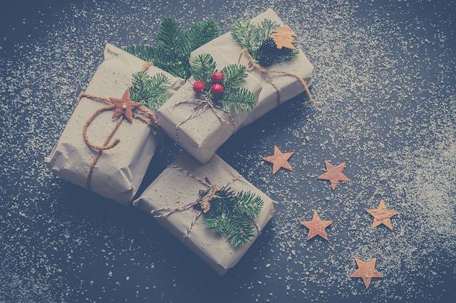 větvičky na dárkách